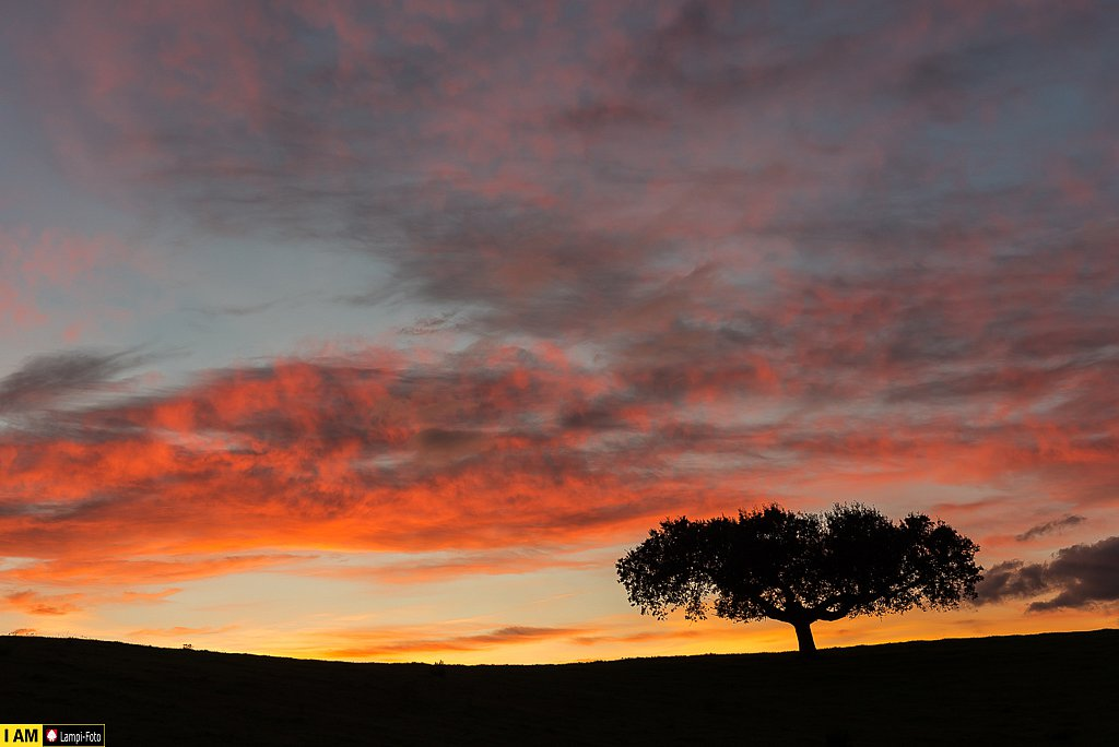 Extremadura, Sonnenuntergang am Rio Árrago