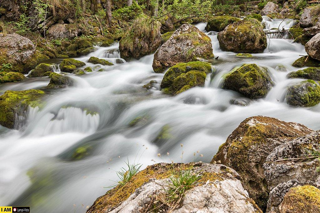 Golling, Bachlauf unterhalb Schwarzbachfall
