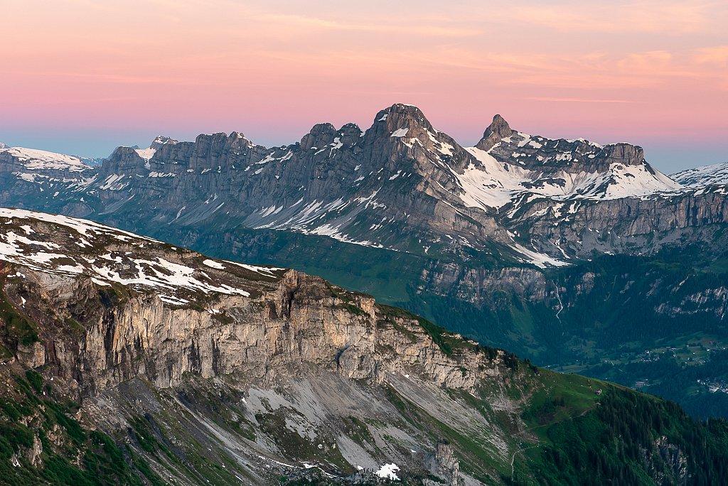 Ortstock 2703 m, Leglerhütte SAC 2273 m, Schwanden GL